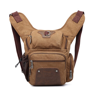 Men Multi Pocket Outdoor Canvas Sling Bag