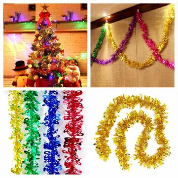 2M Christmas Xmas Tree Hanging Decoration Tinsel Garland Ornament