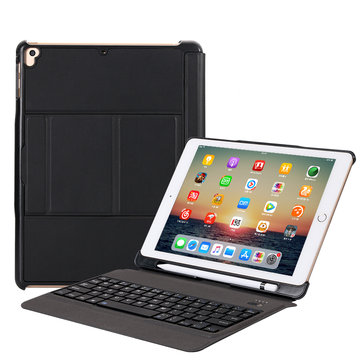 Slim Detachable bluetooth Keyboard Kickstand Smart Sleep Case With Pencil Holder For iPad Air/Air 2/iPad Pro 9.7