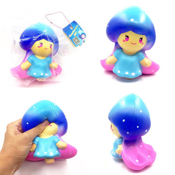 SquishyShop Fairy Lady Squishy 15cm Soft Slow Rising With Ball Chain Tag Collection Gift Decor Toy