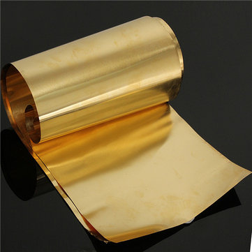 0.1 x 200 x 1000mm Brass Thin Sheet Foil Strip Handicraft Board