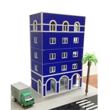 1/87 HO Railway Modern Blue Buildings Outland Models FOR GUNDAM Building