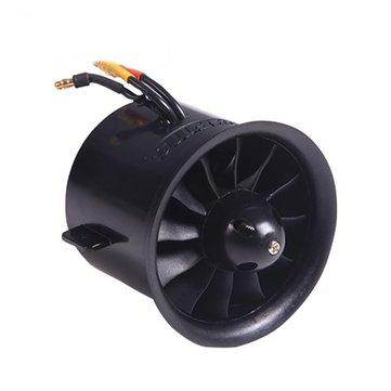 FMS 70mm Ventilador de Conductos de 12 Hojas EDF con Motor 2845 KV2750 para Aeroplano RC