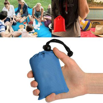 KCASA KC-PMP2 150cm Outdoor Seyahat Kampçılık Katlanabilir Piknik Handy Mat Taşınabilir Cep Su Geçirmez Plaj Depolu Depo Çanta