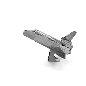 Aipin 3D Metal DIY Puzzle Stainless Steel Space Shuttle Model Silver Color For Kids Children Gift