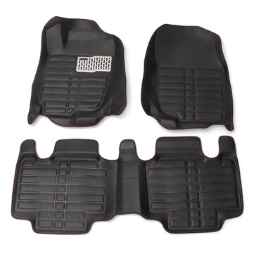Full-Encased Leather Indentation Car Floor Mat Front Rear Liner Waterproof Mat For Toyota RAV4 13-16