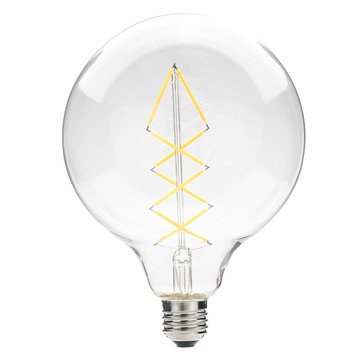 6.5W E27 G125 Dimmable Warm White LED Filament Light Bulb for Home Decoration AC230V