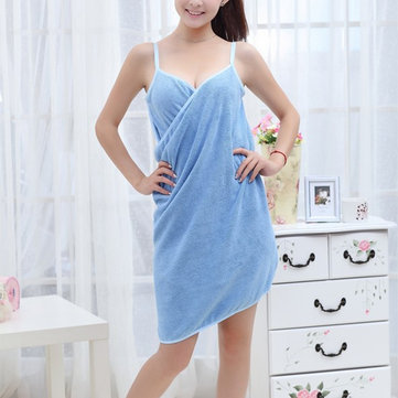 Microfiber Towel Sling Strapless Bath Dress Quick-dry Nightgown
