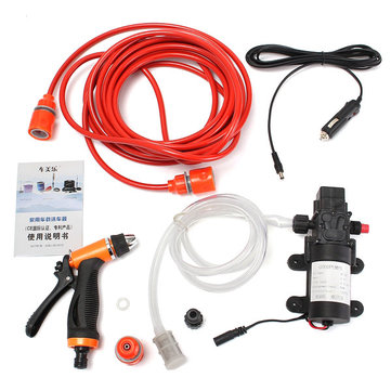 80W 12V 130PSI Portable High Pressure Car Electric Washer Car Washing Machine Water Pump
