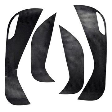 4pcs Carbon Fiber Door Protective Anti Kick Film Sticker For Hyundai Tucson 2015-2016