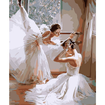 Digital Oil Painting Ballet DIY Oil Painting By Numbers Kits Dancing Frameless Canvas Home Wall Decor 40x50cm
