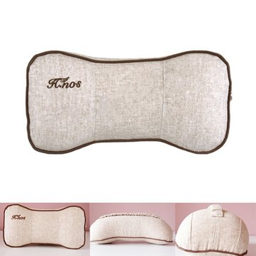Car Head Rest Linen Bone Shape Car Memory Neck Pillow Cushion 29*17*11