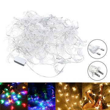 20M Moon Shape EU US Plug Warm White Colorful 200 LED String Fairy Light Holiday Decor AC110V AC220V