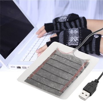 DC 5V 2.5W USB Heated Plate Warmer For Gloves Mouse Pad