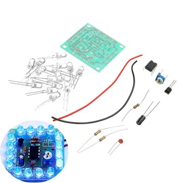 10pcs DIY 555 Flashing Signal Light Kit Flashing Speed Adjustable