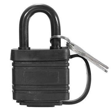 40mm Iron Padlock Waterproof Heavy Duty Outdoor Security Shackle Lock with 2 Keys