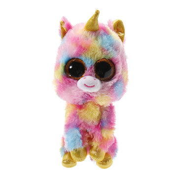 6 inch Cute Color unicorn TY Beanie Boos Stuffed Plush Toy Glitter Eyes