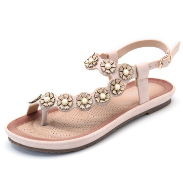 Bohemian Floral Women Soft Casual Sandals