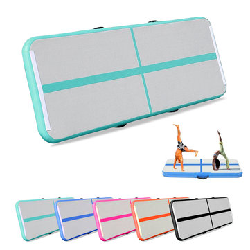 118x35x4inch GYM Airtrack Gymnastics Mat Inflatable GYM Air Track Mat Tumbling Mat For Floor Home Back Yard