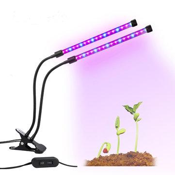 Gardening Plant 18W Dual-lamp LED Grow Light Dimmablec Adjustable Flexible 360 Degree Gooseneck Growing Lamp