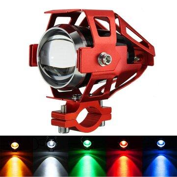 12V-80V U5 LED Motorcycle Headlight Driving Fog Lamp Spot Light Red Frame