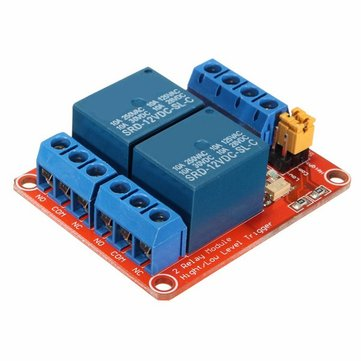 10Pcs 12V 2 Channel Relay Module With Optocoupler Support High Low Level Trigger For Arduino