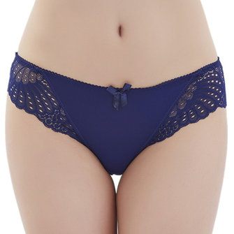 Sexy Low Rise Lace Ice Silk Panties