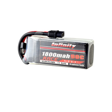 AHTECH Infinity 4S 14.8V 1800mAh 110C Graphene LiPo Battery XT60 SY60 for RC Drone FPV Racing