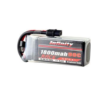 AHTECH Infinity 4S 14.8V 1800mAh 110C Graphene LiPo Battery XT60 SY60 for RC Drone FPV Racing