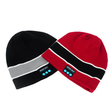 Bluetooth Knitted Hat Built-in Stereo Speakers Hands-free Winter Warm Beanie Cap