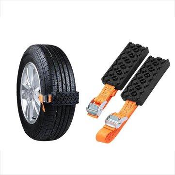2pcs Tire Chain Belt Tire Mud Chain Hard Wearing Snow Chain