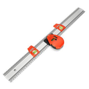300mm Aluminum Alloy Laser Level Magnet Ruler Measuring Tool