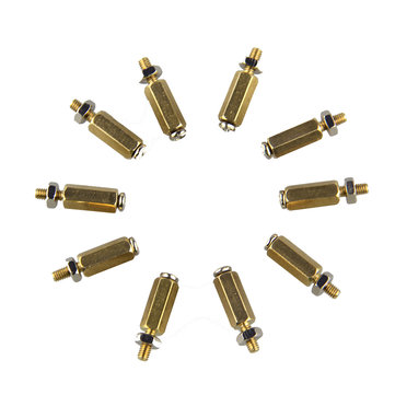 3SETS DIY 11MM Hex Brass Cylinder + Screw + Nut Kits For Raspberry Pi
