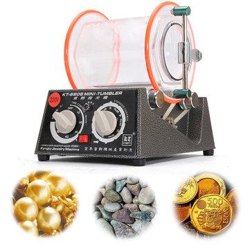 220V 45W Mini Tumbler Jewelry Polisher Tumbler Jewelry Rotary Machine 5kg Capacity