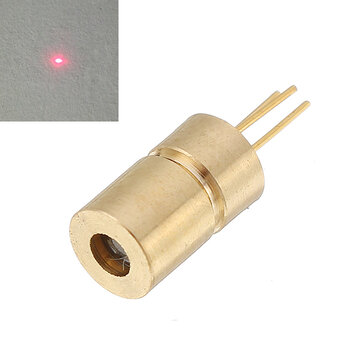650nm 10mw 5V Red Dot Laser Diode Mini Laser Module Head for Equipment Industry 6x10.5mm