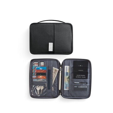 IPRee® Polyester Passport Bag Travel ID Card Wallet Waterproof Multifunction Credit Card Holder Storage Bag