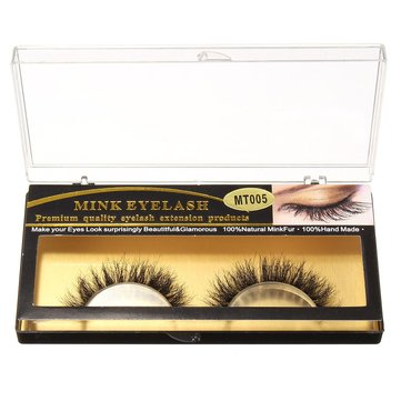 1 Pair Mink False Eyelashes Black Handmade Cluster Natural Long Eyelashes Makeup Cosplay Charming