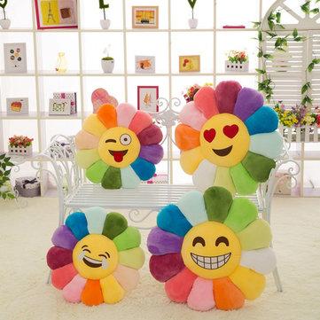 Creativo emoji girasoli colore espressione caramelle cuscino di tiro del cuscino ufficio divano peluche macchina indietro