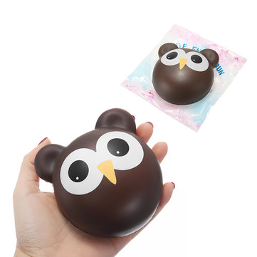 Squishy Owl Chocolate Bun Slow Rising Toy Cute Animals Cartoon Collection Gift Deocor Toy