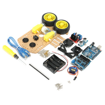 Geekcreit® DIY L298N 2WD Ultrasonic Smart Tracking Moteur Robot Car Kit For Arduino