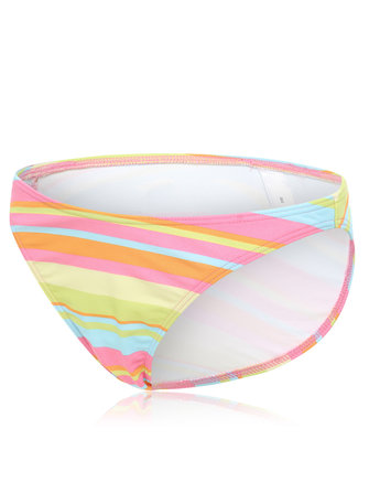 Plus Size Colorful Striped Low Waist Elastic Bikini Bottom