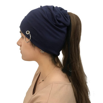 Womens Winter Cotton Multifunctional Adjustable Beanie Hat