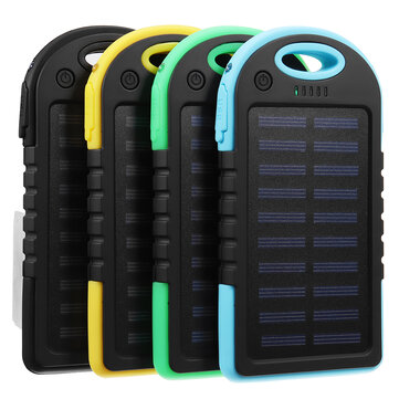 Portable 30000mAh Solar Powered System Charger USB Battery Charger Case for Camping Outdoor