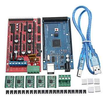 MEGA 2560 R3 With USB Cable + RAMPS 1.4 RepRa + A4988 Drivers 3D Printer Kit For Arduino