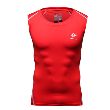 PRO Mens Sports Training T-shirt Casual Sleeveless Vest Perspiration Wicking Tights