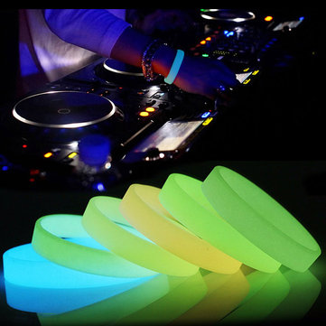 Fashional Silicone Luminous Glowing Wristband Bracelet Sport Dance Party Prop Gift