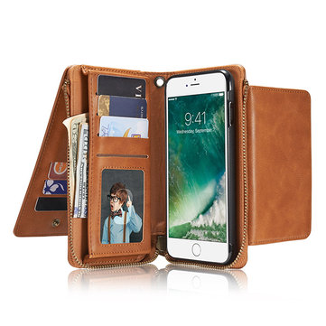 Women Men Imitation Leather Phone Case Card Holder Phone Bag Crossbody Bag For Iphone 7 Plus