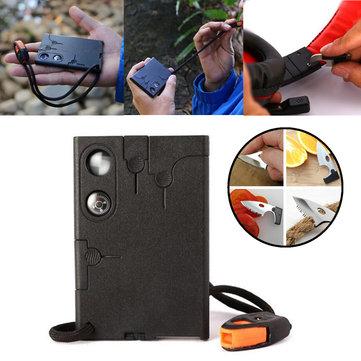 IPRee®18в1Наоткрытом воздухе EDC Портативный нож для кредитных карт Многофункциональный карманный Кемпинг Выживание Набор