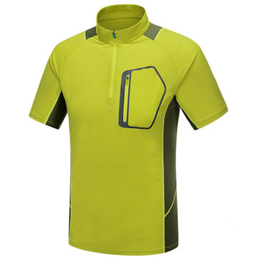 Outdooors Men T-shirt Camping Hiking Mountaineering Trip Absorbent Breathable Quick Drying Sportswear