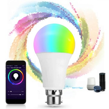 B22 9W RGB+CW WIFI LED Smart Light Bulb for Echo Alexa Google Home AC85-265V